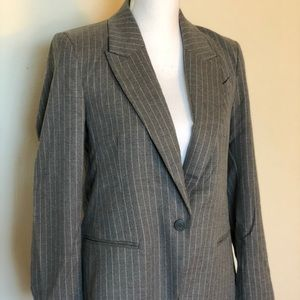 H&M Grey & White Stripe Blazer